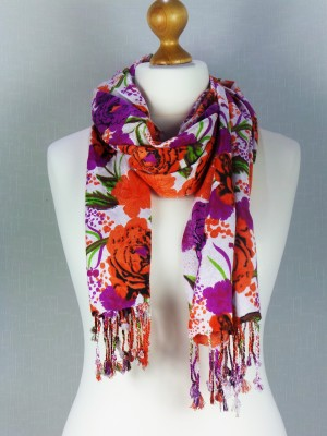 Dream Rose Multi Color Viscose Scarf