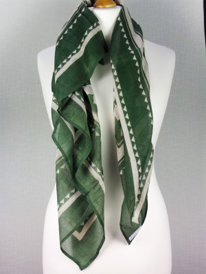 Savaana Green Fine Cotton Scarf