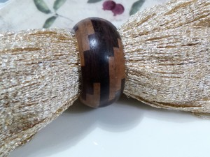Set of 4, Natural Wood Designer Napkin Ring