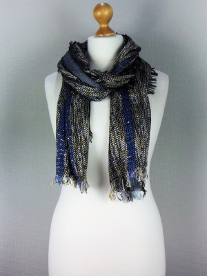 Shiny Party Wear Cotton Mix Scarf
