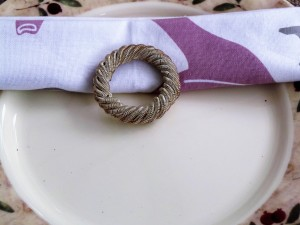 Set of 4, Silver Spring Napkin Ring