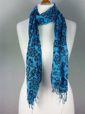 London Blue Cotton Scarf