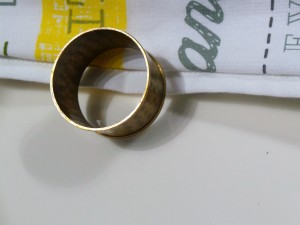 Set of 4, Brass Hammered Napkin ring