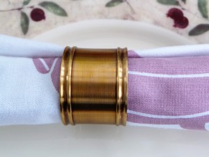 Set of 4, Brass Plain Antique Napkin Ring