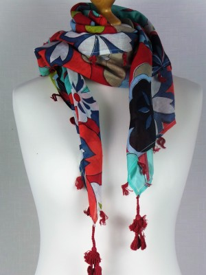 Lily London 100% Cotton Scarf with Eastman Colors, Multi