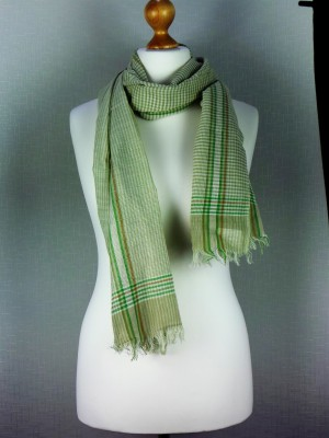 Farmer Deck Light Green Cotton Scarf